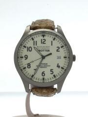 TROTTER/クォーツ腕時計/アナログ/レザー/CRM/ベルト使用感有/950600