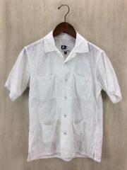 コットンレースキューバシャツ/半袖シャツ/XS/コットン/WHT