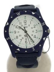 RHC/xTIMEX xSafari Exclusive/腕時計/アナログ/レザー/WHT/NVY