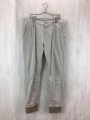 RIBBED 2 TUCK PANT/SOPH-167077//L/コットン/BEG/無地