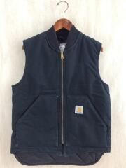 Duck Arctic Quilt Lined Vest/M/コットン/BLK/無地/MADE IN USA/