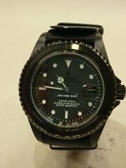 ダイヤモンドウォッチ/クォーツ腕時計/アナログ/BLK/BLK/日付故障