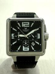 ヴィセロイ/クォーツ腕時計/アナログ/BLK/BLK