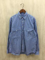 Roll up shirt/長袖シャツ/S/コットン/BLU/ギンガムCK