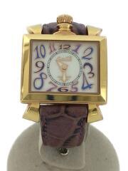 ナポレオーネ/クォーツ腕時計/クロコ型押し/アナログ/レザー/CRM/PUP/6031.4