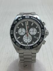 クォーツ腕時計/アナログ/ステンレス/BLK/SLV/クロノグラフ FORMULA1 フォーミュラ1 タキメーター CAZ101E