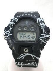 CASIO/GD-X6900FTR/クォーツ腕時計/FUTURA/デジタル/ラバー/BLK