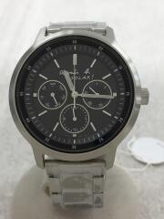 ソーラー腕時計/アナログ/ステンレス/BLK/V14J-0BF0