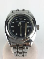 クォーツ腕時計/アナログ/ステンレス/ブラック/BLK/AR-5106