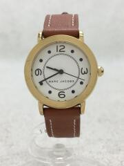 マークジェイコブス/クォーツ腕時計/アナログ/レザー/WHT/BRW/MJ1576
