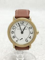 マークジェイコブス/腕時計/アナログ/レザー/WHT/BRW/MJ1574