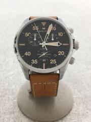ハミルトン/クォーツ腕時計/アナログ/ラバー/GRY/BRW/H76722531/KHAKI PILOT CH