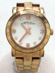 マークバイマークジェイコブス/クォーツ腕時計/アナログ/ステンレス/WHT/GLD/MBM3078