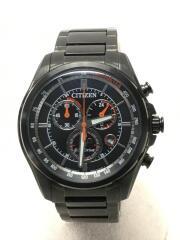 シチズン/ソーラー腕時計/アナログ/ステンレス/BLK/BLK/AT2136-87E