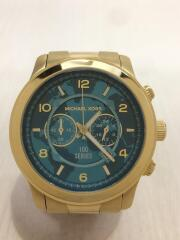 クォーツ腕時計/アナログ/ステンレス/BLU/GLD