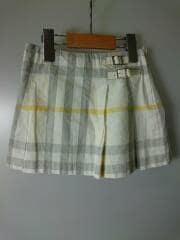 バーバリーロンドン/スカート/110cm/コットン/WHT/チェック