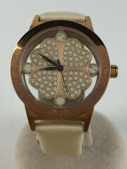 フォリフォリ/腕時計/アナログ/レザー/CLR/WHT/フラワー/カラーストーン