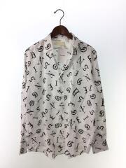 old english shirt/長袖シャツ/44/レーヨン/WHT/総柄/0756