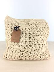 Patchwork Knit Clutch/タグ付/バッグ/コットン/BEG/11611015