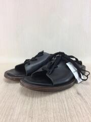 cut off lace-up shoes/サンダル/3/BLK/レザー