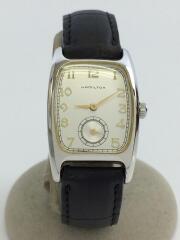 ブルック/スモールセコンド/スクエア/OLD/クォーツ腕時計/アナログ/レザー/SLV/BLK/6265