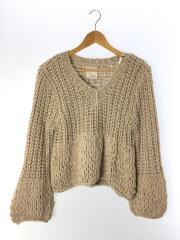 セーター(厚手)/FREE/コットン/BEG