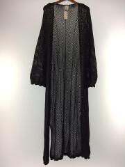 2019年モデル/CROCHET LONG CARDIGAN/one/コットン/BLK/05192410