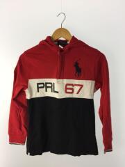 フード付/PRL67/ポロシャツ/M/コットン/RED