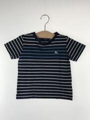 Tシャツ/110cm/コットン/NVY/ボーダー