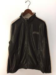 18SS/Bonded Mesh Track Jacket/ヨゴレ有/ジャケット/M/ポリエステル/BLK
