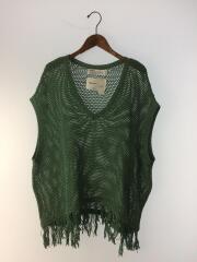 20SS/Net Knit Vest/ニットベスト(薄手)/FREE/コットン/GRN