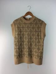Pattern Knit Vest/2020MODEL/FREE/アクリル/BEG/総柄/12020520