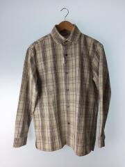 ドビーチェックボックスシャツ/2018年モデル/1/ポリエステル/BEG/108600003