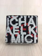 グラフィック/ロゴ/2つ折り財布/--/BLK/総柄/メンズ