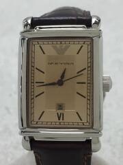 クォーツ腕時計/アナログ/レザー/GLD/BRW/AR-9020L