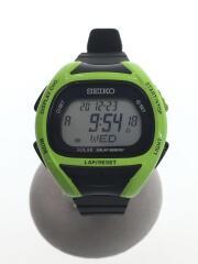 ソーラー腕時計/S680-00AO/デジタル/ラバー/GRY/BLK