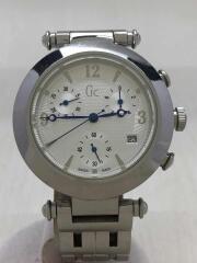 クォーツ腕時計/GC20500/箱あり/コマ付き/デジタル/ステンレス/グレー/メンズ/中古