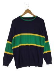 セーター(薄手)/M/コットン/ネイビー/TC19F001PL