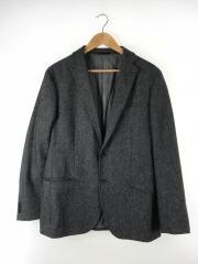 テーラードジャケット/XL/ウール/GRY/無地