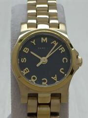 Henry Dinky/クォーツ腕時計/アナログ/BLK/GLD/MBM3257