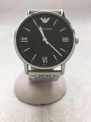 クォーツ腕時計/アナログ/ステンレス/BLK/EMPORIO ARMANI /エンポリオアルマーニ/AR-11