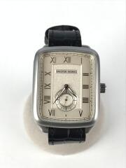 腕時計/MATESRWORKS/クォーツ腕時計/アナログ/レザー/WHT/BLK/MW10