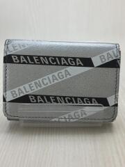バレンシアガ/3つ折り財布/--/SLV/総柄/メンズ