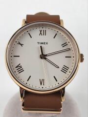 クォーツ腕時計/TW2R28800/アナログ/レザー/IVO/BRW