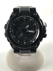 ソーラー腕時計・G-SHOCK/アナログ/ステンレス/BLK/BLK