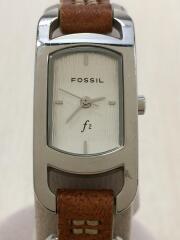 フォッシル/クォーツ腕時計/アナログ/キャメル