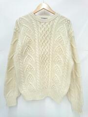 セーター(厚手)/M/ウール/ホワイト/白ニット