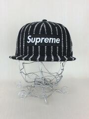 キャップ/7 3/8/ウール/ブラック/19SS/Box Logo Text Stripe cap/ボックスロゴ
