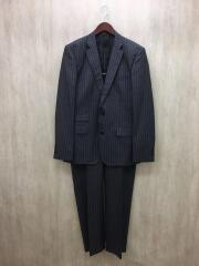 スーツ/8/ウール/グレー/ストライプ/1848604-1/2B/セットアップ/フォーマル/テットオム
