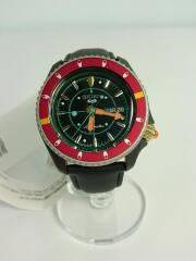 セイコー/5スポ^ツセンススタイル/ジョジョコラボ 自動巻腕時計/アナログ/レザー/BLK